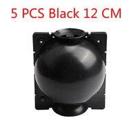 5 PCS Black 12cm