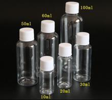 100 قطعة/الوحدة 10 مللي 20 مللي 30 مللي 50 مللي 60 مللي 100 مللي البلاستيك الشامبو زجاجات البلاستيك زجاجات للسفر الحاويات لمستحضرات التجميل غسول