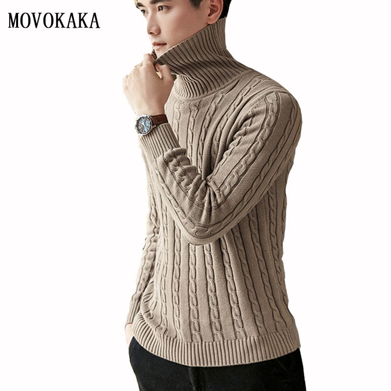 New Winter Turtleneck Sweater Men Cotton Pullover Men Thick Pull Men Long Sleeve Sweater Male Pullovers Casual Sweater Man M-3xl