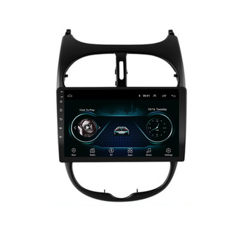 Android 10.1 For Peugeot 206 2000 -2016 Multimedia Stereo Car DVD Player Navigation GPS Radio image