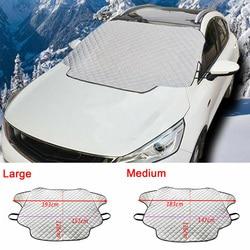 M/L samochód ciężarówka szyba śnieżna pokrywa magnetyczna zima lód mróz straż parasol przeciwsłoneczny srebrny szyba Protector śnieg pokrywa śnieg Fr w Pokrowce na samochód od Samochody i motocykle na