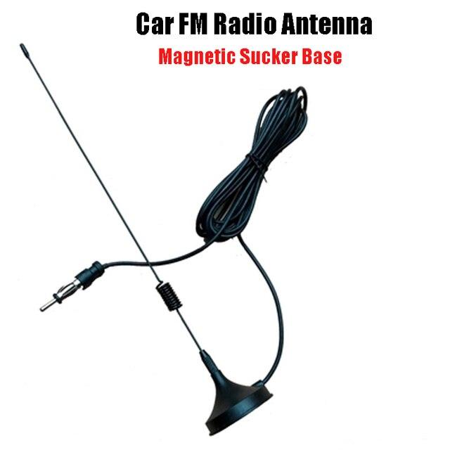 Voiture Fm haute fréquence améliorée Signal Radio antenne 3 mètres mangeoire voiture maison ventouse Base Double face aimants Super aspiration