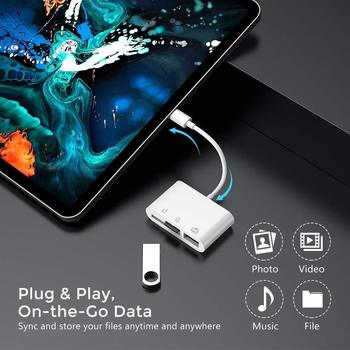 Type C SD/TF Memory Card Reader Adapters 3 in 1 USB C to USB 2.0 Adapter Camera Connection Kit Tranfer for iPad Pro New MacBook