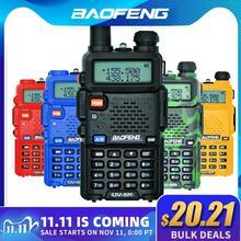 Baofeng UV 5R מכשיר קשר מקצועי CB רדיו תחנת Baofeng UV 5R משדר 5W VHF UHF נייד UV5R ציד חזיר רדיו