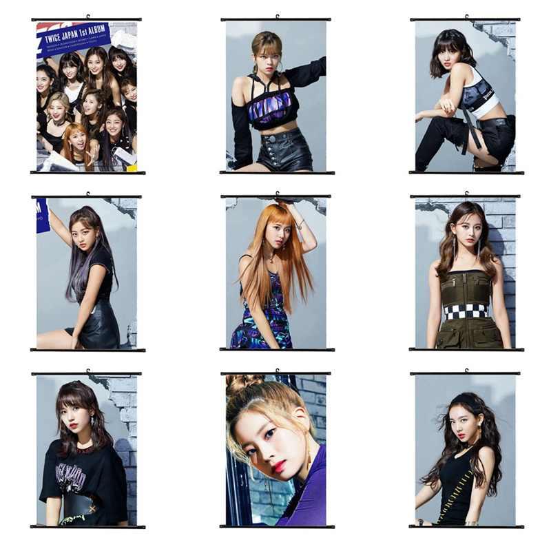 1 قطعة عالية الجودة تصاميم مختلفة A4 الملصقات K-POP فتاة مجموعة مرتين صغيرة شنقا التمرير اللوحة القرطاسية امدادات