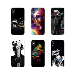 Soft Transparent Cases Covers Daft Punk Helmet Pattern For Apple iPhone X XR XS 11Pro MAX 4S 5S 5C SE 6S 7 8 Plus ipod touch 5 6