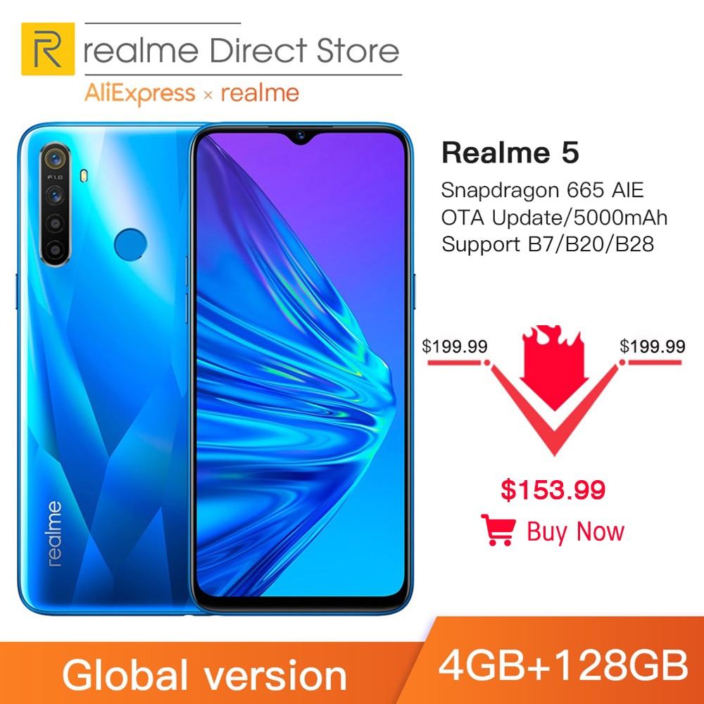 Global Version Realme 5 4GB RAM 128GB ROM 6.5