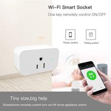 Wi-Fi Smart Plug Socket Switch Mini No Hub Needed Wireless App Remote Control Devices US Plug Wi-Fi Control xiaomi mi smart power strip 6 outlets wi fi remote control socket au plug