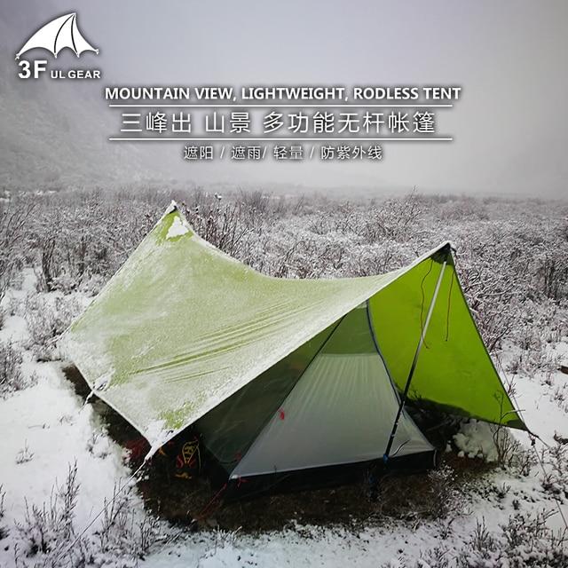 3F UL GEAR Shanjing 2 Person Outdoor Ultralight Tent 20D  3