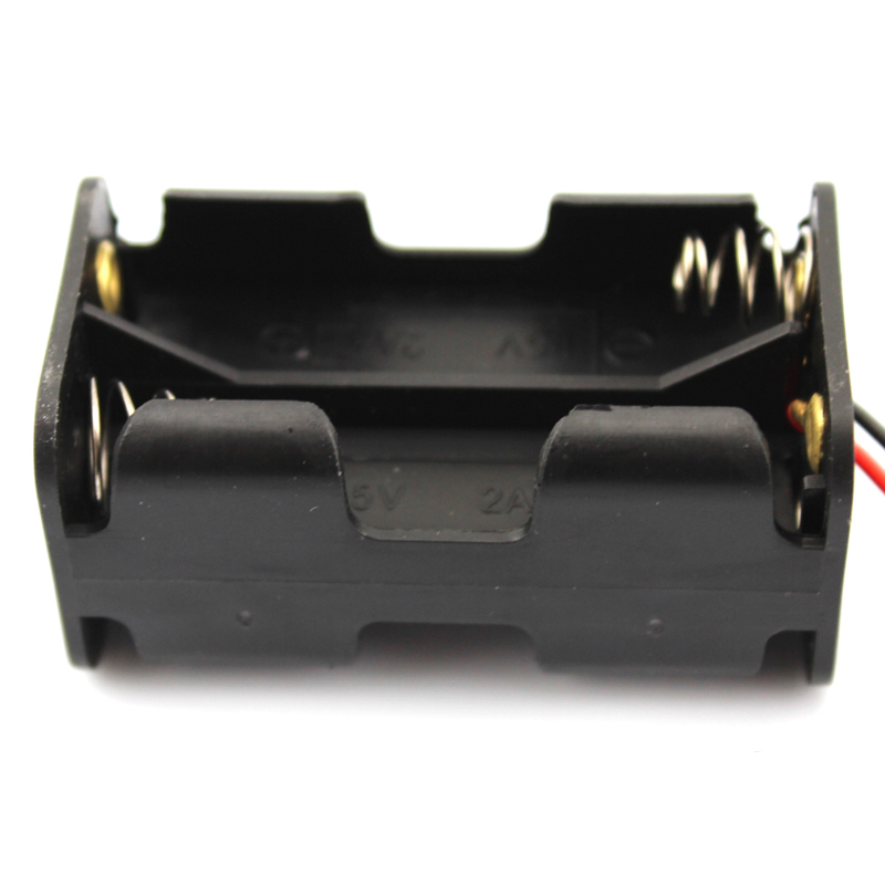 20pcs lot MasterFire 20pcs/lot Black Plastic 6V AA Battery Holder For 4 x AA Batteries Storage Box Case Dual Layers With Wire Lead (5)