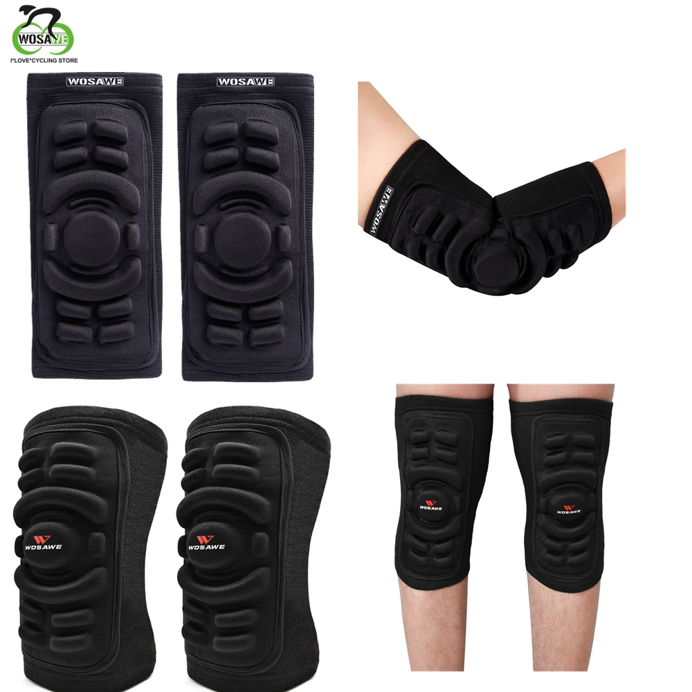 WOSAWE Elastic Gym Sport Basketball Arm Protector Shooting Crashproof Elbow Knee Support Pads Elbow Knee Protector Brace Support