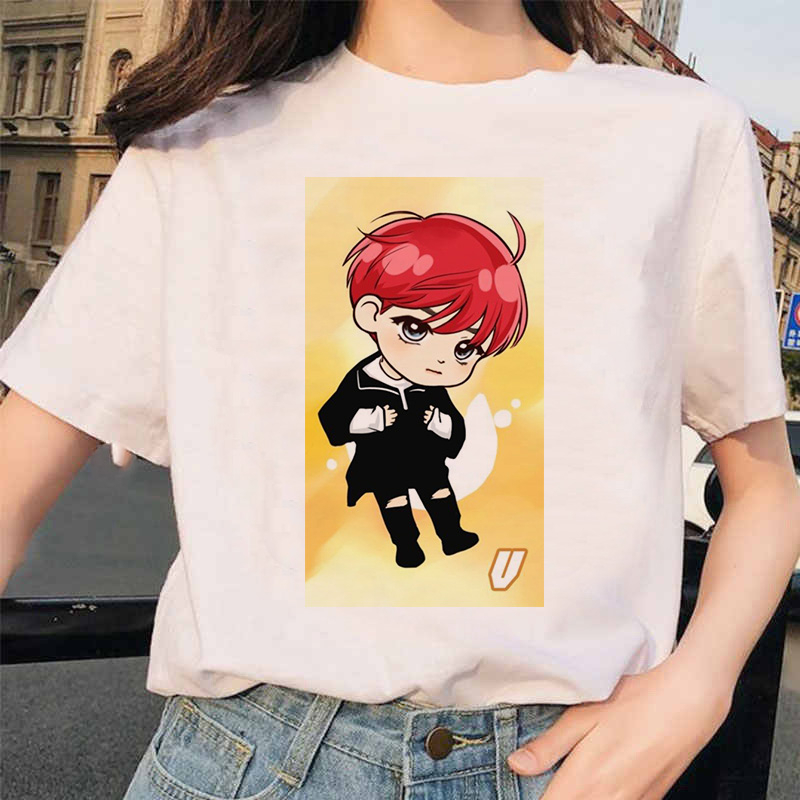 2019 Korean Stylish Ulzzang Harajuku  T Shirt Women Korean Style Oversized Kpop Tshirt Female T Shirt