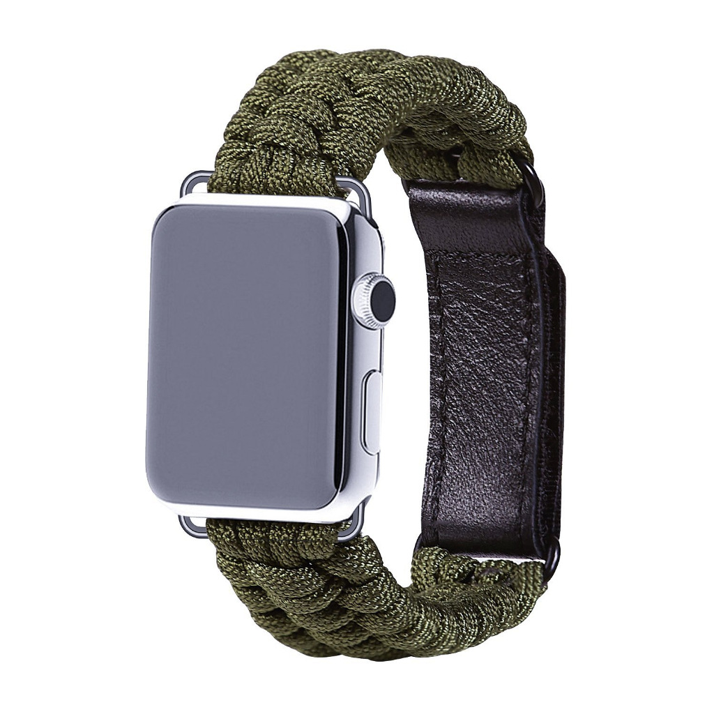 Applicable IWatch Nylon Watchband Apple Umbrella Rope Velcro Watch Strap AppleWatch Outdoor Sports Watch Strap