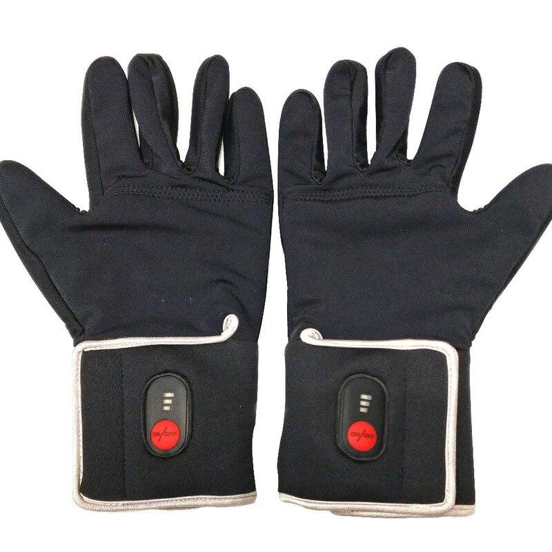 Перчатки с электрическим подогревом, зимние теплые перчатки для спорта на открытом воздухе, катания на лыжах, верховой езды, охоты, тепловые мужские и женские перчатки, 5 пальцев и спины с подогревом - 3