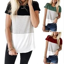 T-Shirt Blouses Maternity-Dress Nursing Cotton Fashion And Stripe Short for Ladies Women's