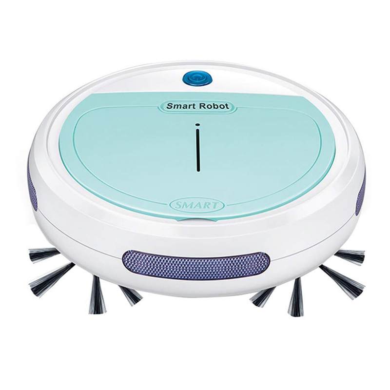 3-In-1 Robot Sweeper/Vacuum/Mop, Rechargeable Automatic Smart Robot VacuumCleaner Edge Cleaning Suction Sweeper For Pet Hair, C