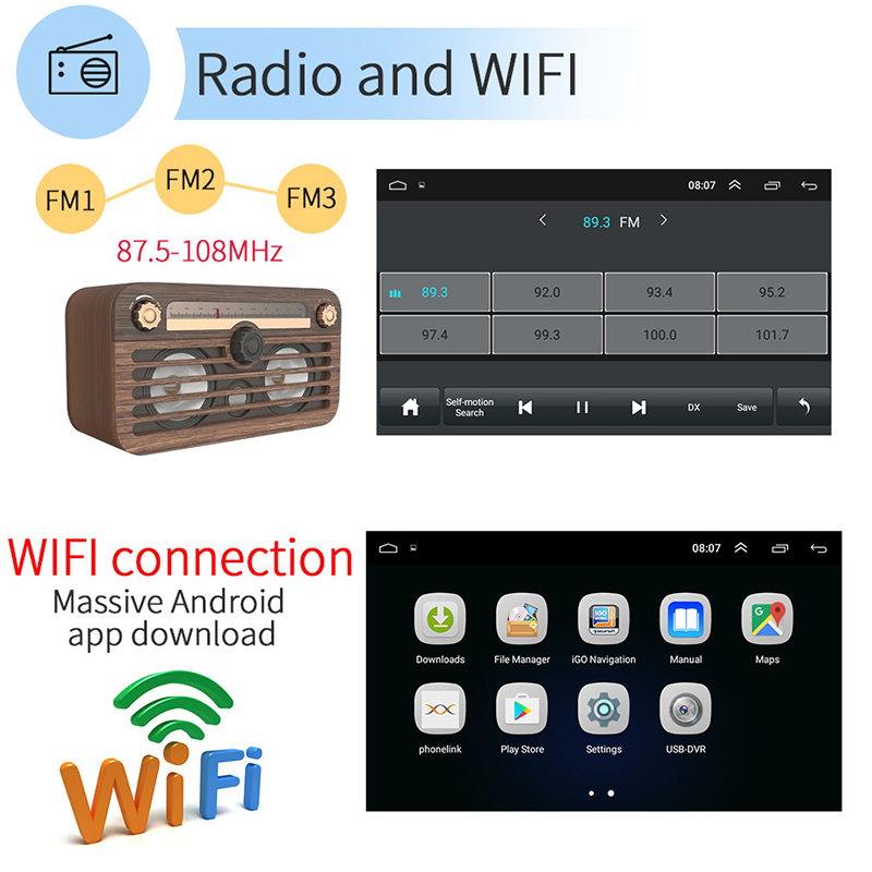 7 Inch HD Touchscreen Kapazität Bildschirm Auto MP5 Player Audio Handy Verbunden Android GPS Navigation Integrierte Host