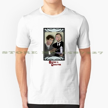 Jeeves And Wooster Cool Design Trendy T-Shirt Tee Jeeves And Wooster Jeeves Wooster Stephen Fry Hugh Laurie House Vintage Retro image