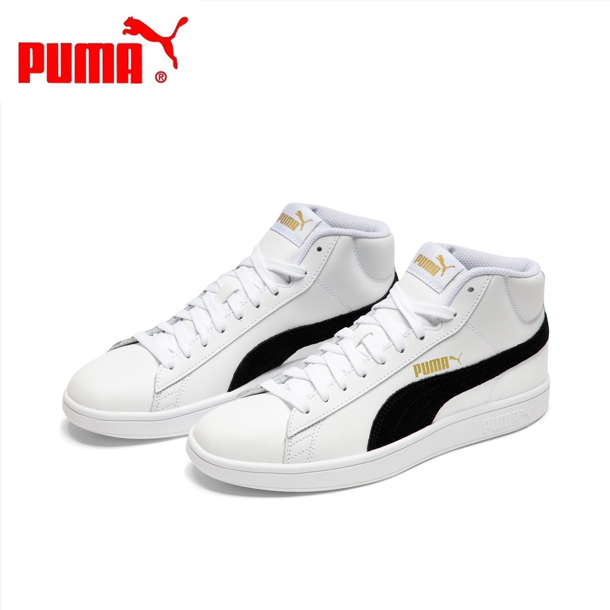Original Authentic PUMA SMASH Men and Women Shoes High To Help Skateboard Shoes Lovers Shoes Classic Style 2019 New 36692405