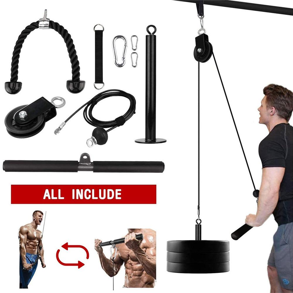 Steel Fitness DIY Pulley Cable System Biceps Triceps Back Forearm Home Gym
