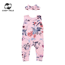 2PCS Brand New Cute Newborn Infant Girl Floral Romper Jumpsuit Outfits Clothes Headband Set 0-24M Baby