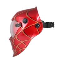 New Professional Welding Helmet Red Cobweb SolarAuto Darkening Welding Mask Welding Soldering Supplies Suitable for Laser Weldi