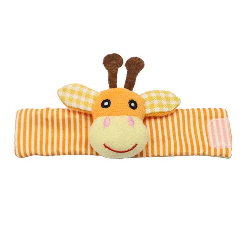Baby Handbells Wrist Strap Rattles Animal Socks Toy New Baby Infant Soft Hand Foot Developmental Toys 0-12Months