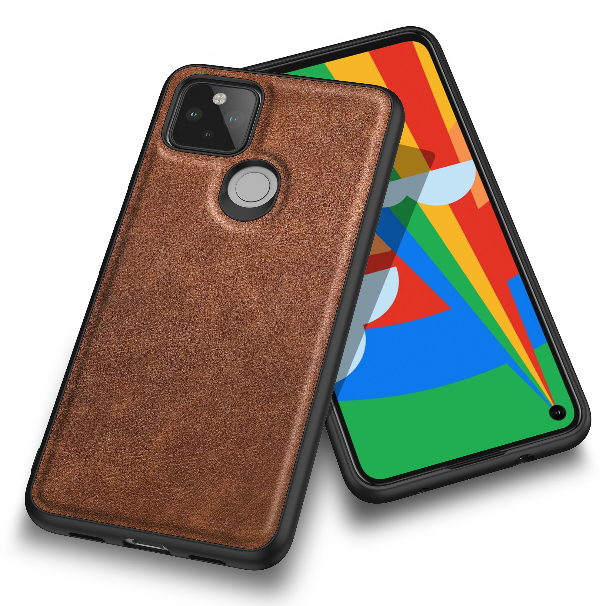 Case For Google Pixel 4A 5G Luxury Vintage Leather Skin Capa With Slot Phone Cover For Google Pixel 4A 4G Anti Drop Cases