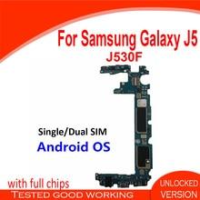 Pojedyncza podwójna karta SIM oryginalna płyta główna do Samsung Galaxy J5 J530F 100% odblokowana płyta główna z pełnymi chipami Android OS Logic board