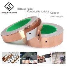 3~50mm *20M Double Sided Conduct Copper Foil Tape Mask Electromagnetic Shielding double side conductive copper foil tape