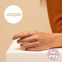 Aide 925 Серебряные кольца для женщин Тонкий Укладки бисером