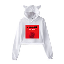 Crop Top Hoodie Justin Bieber Changes Yummy Hip Hop Hoodies Sweatshirt Women Pink Clothes for Girls Autumn Long Sleeve Tops Sexy(China)