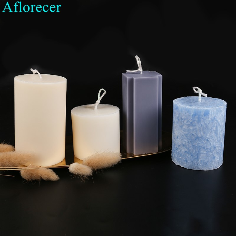 DIY Handmade Candle Craft Mold Conjoined Flat Head Cylinder Plastic Mold Scented Candle Mold Home Festival Decoration Gift
