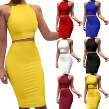 2 Piece Skirt Set Outfits for Women Summer 2020 Sexy Casual Skirt and T