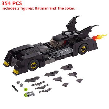 Super Hero Series Batmobile Pursuit of The Joke Building Blocks Sets Bricks Classic marvel Movie Model For Children Toys Gift marvel universe hero pa change peter jackson s king wolf joint diy do model doll goods of for display rather for toys gift