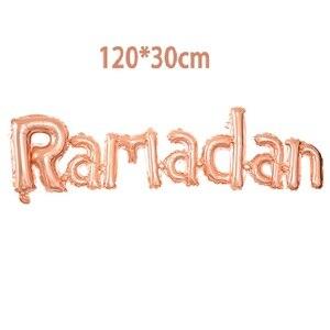Image 4 - Eid Mubarak Decor Balloons Ramadan Kareem New Year Islamic Muslim Decoration Letter Banner