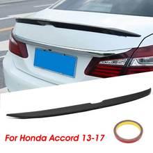Trunk Spoiler Accord Lip-Wing Sedan Rear Honda Car Black ABS for Matte 4DR