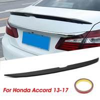 ABS Car Rear Trunk Spoiler Lip Wing Matte Black For Honda For Accord 4DR Sedan 2013 2014 2015 2016 2017