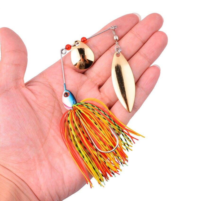 1pcs Spinner Bait 17G Metal Lure Hard Fishing Lure Spinner Lure Spinnerbait Pike Swivel Fish Tackle Wobbler Fishing
