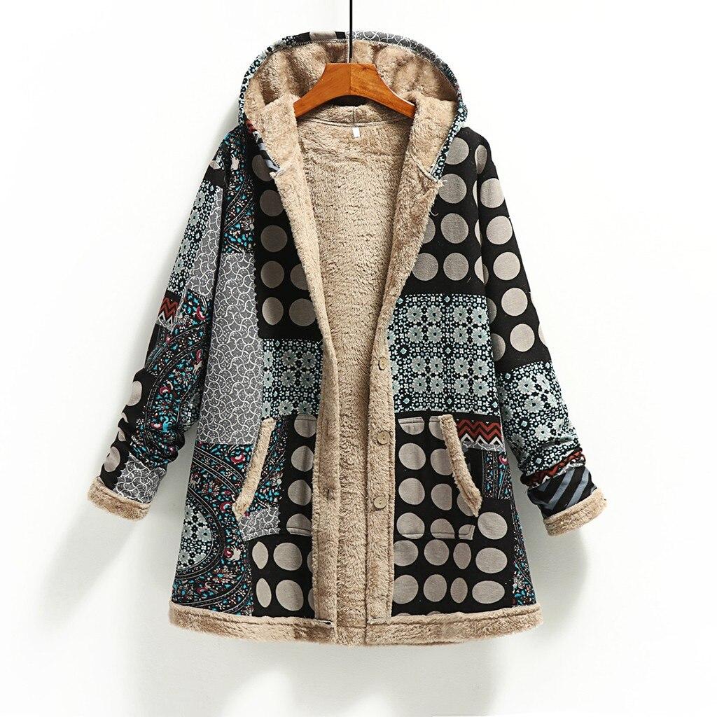 Женская Повседневная приталенная куртка с длинным рукавом, зимняя теплая верхняя одежда с капюшоном и карманами, ВИНТАЖНЫЕ пальто, кардиган #111|Куртки|   | АлиЭкспресс