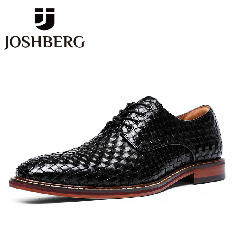 JOSHBERG New Arrivals Mens Dress British Style Shoes Cow Leather Chic Suits Shoes Trendy Man Shoes Sapato Social Masculino