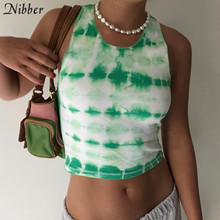 Nibber summer College style knitting camisole Leisure tank tops women basic street casaual wear femme graphic tees  Sports vest