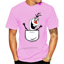 Olaf In Pocket Wholesale O Neck 100% Cotton TEE Shirt Mens Womens T-shirt