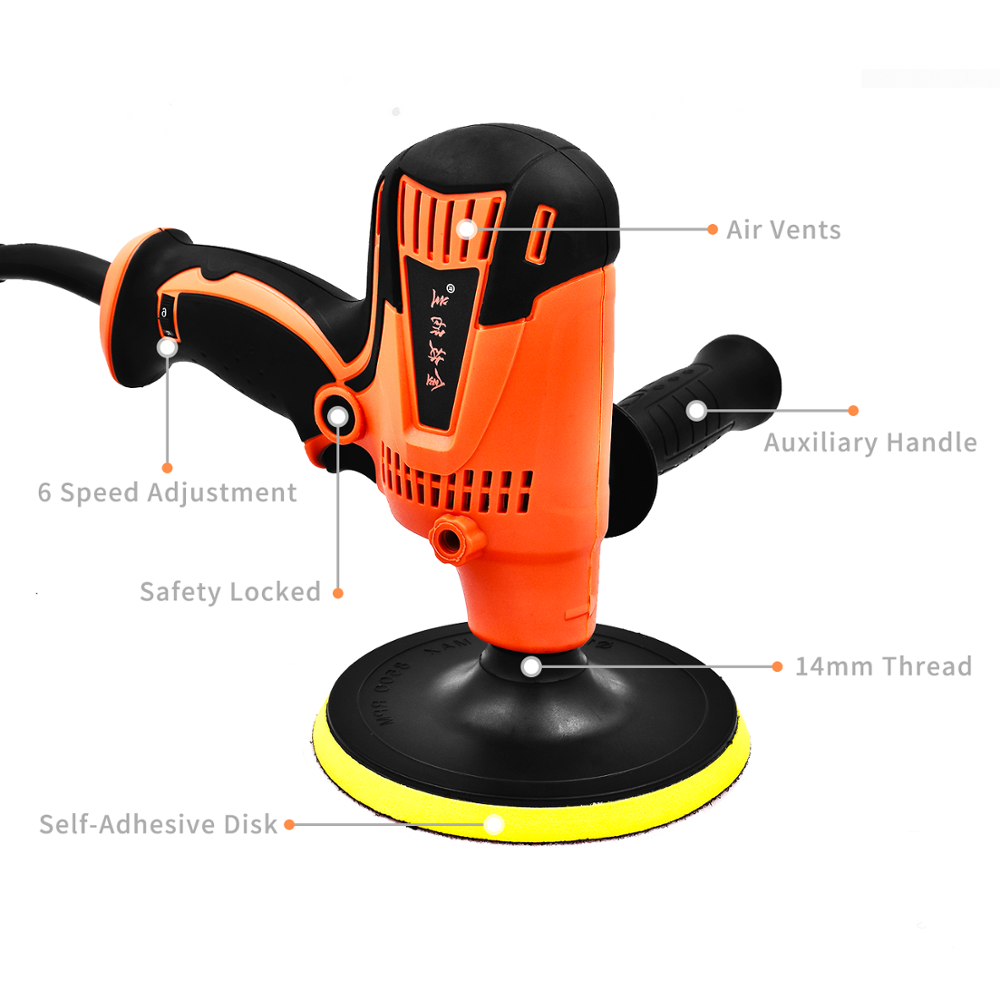 Image 3 - 800W Electric Car Polisher Machine Adjustable Speed 3300rpm Auto Polishing Car Waxing Grinding Machine For Paint Care Tools-in Polishers from Tools on