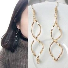 Fashion Wave Long Drop Earrings Women Jewely Spiral Earring Pendant Street Shoot Match Jewelry captain e r walt the hall street shoot out