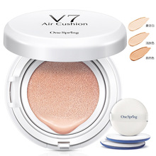 One Spring V7 Flawless Air Cushion Moisturizer BB/CC Cream Moisturizing Bring bright skin Concealer 3 Colour Available