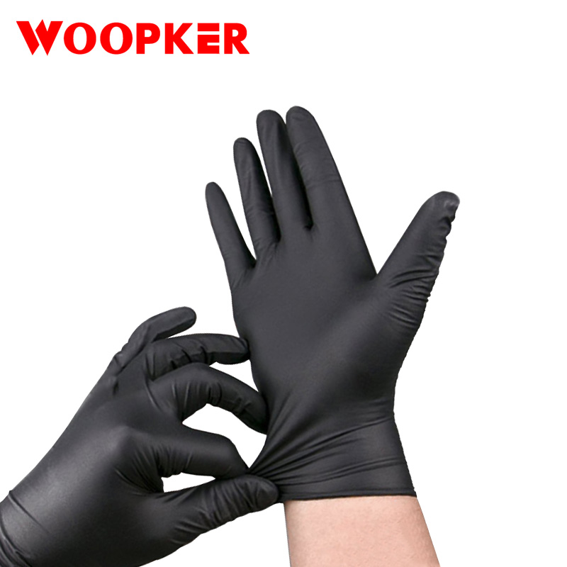 100Pcs Anti-static Disposable Black Latex Gloves Cleaning Washing Nitrile Laboratory Nail Art Non-toxic Protection Glove