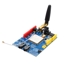 Módulo inalámbrico de transferencia de datos GPRS/GSM Módulo de placa de desarrollo SIM900 850/900/1800 MHz Kit para componentes electrónicos Arduino