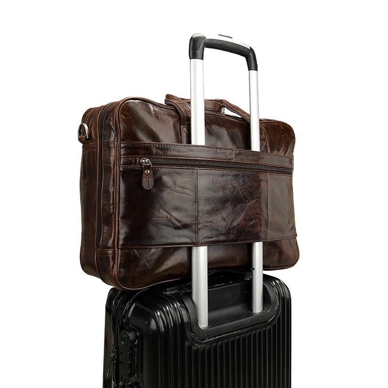 WESTAL sac pour hommes/porte-documents en cuir pochette d'ordinateur pour hommes en cuir véritable sac de bureau pour document voyage d'affaires sacs de voyage 7320 - 3