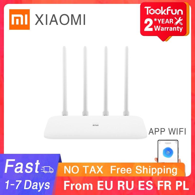 Xiaomi Router 4A Gigabit Edition 128Mb Wifi удлинитель двухъядерный процессор игровой ускоритель покрытие внешний усилитель сигнала Mi Home Беспроводные роутеры      АлиЭкспресс